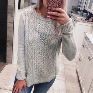 J crew knit embellished sweater NWT